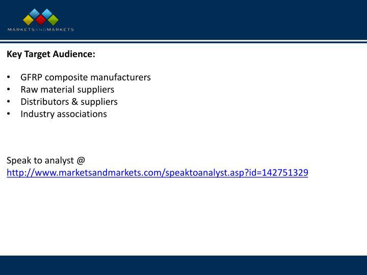 Key Target Audience: