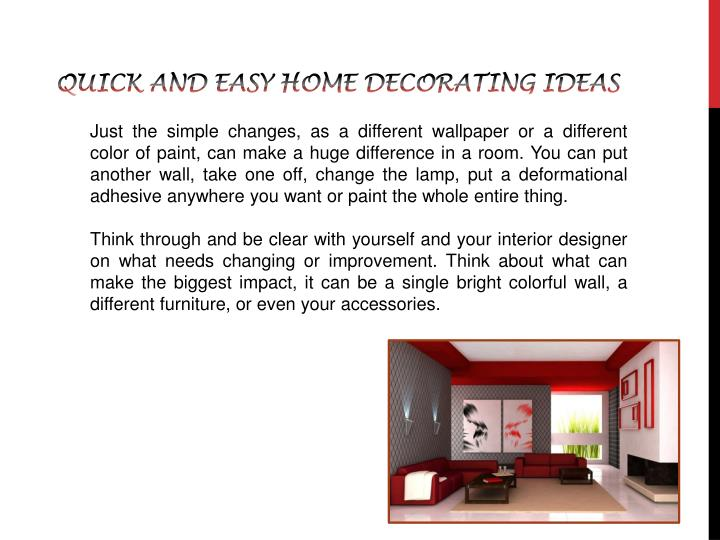 Quick and easy home decorating ideas1