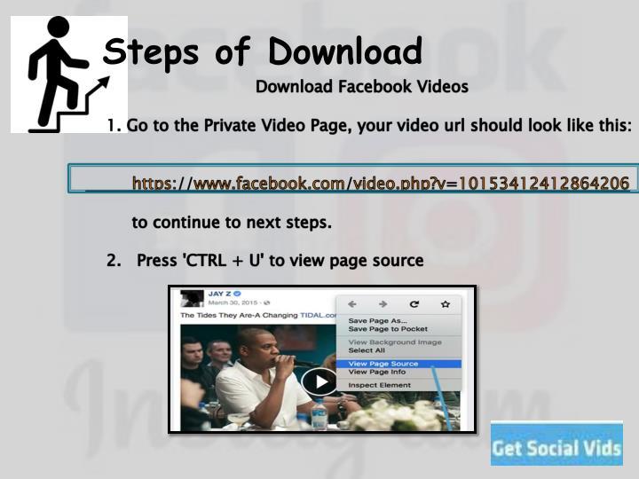 Steps of Download