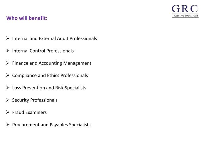 Internal and External Audit