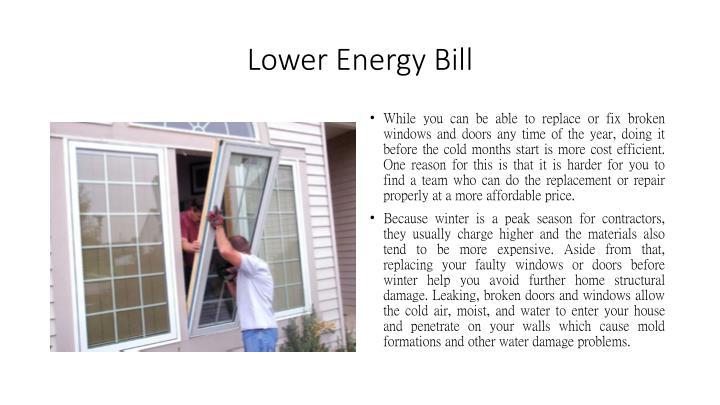 Lower Energy Bill