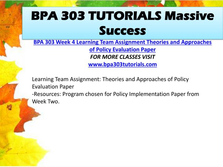 BPA 303 TUTORIALS Massive Success