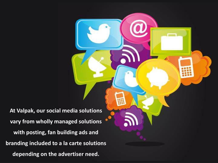 At Valpak, our social media solutions