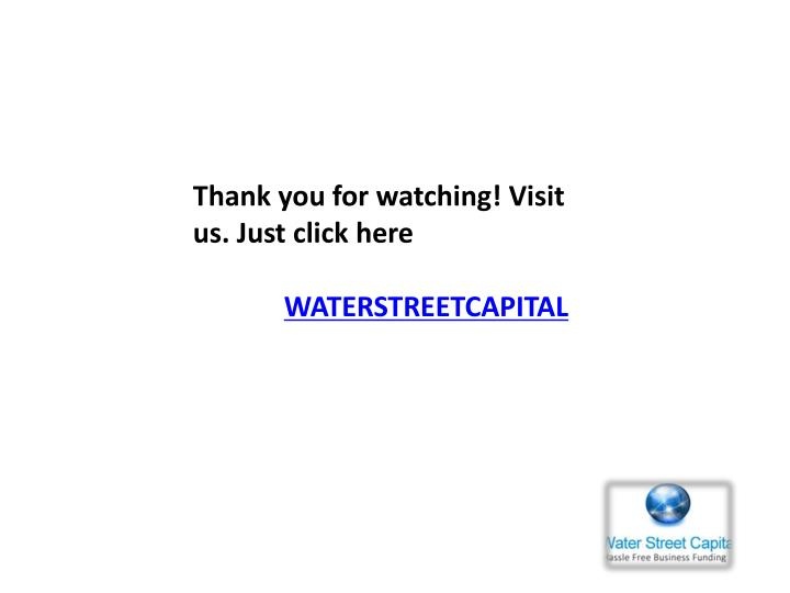 Thank you for watching! Visit us. Just click here