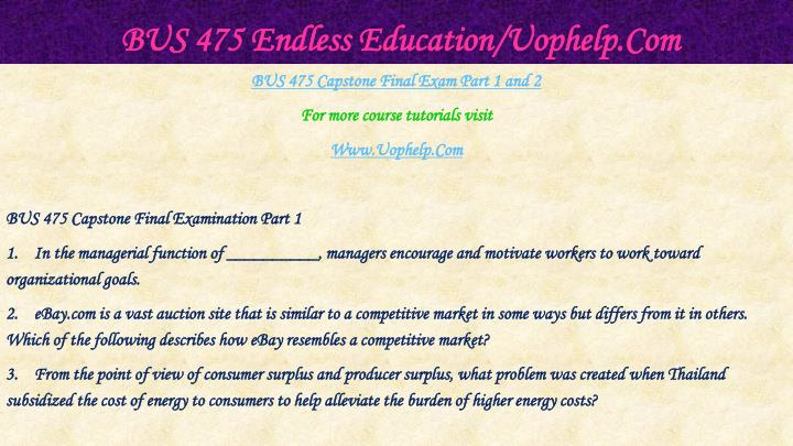Bus 475 endless education uophelp com1