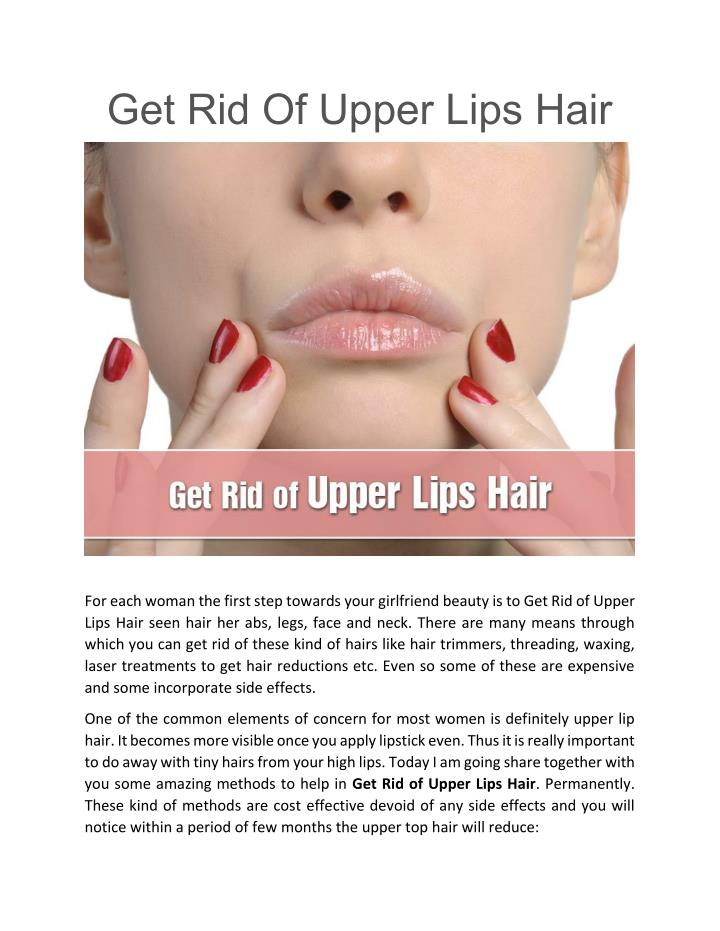 Get Rid Of Upper Lips Hair