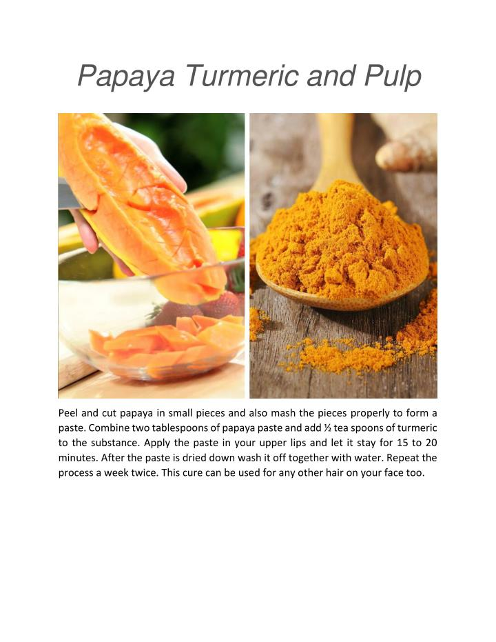 Papaya Turmeric and Pulp