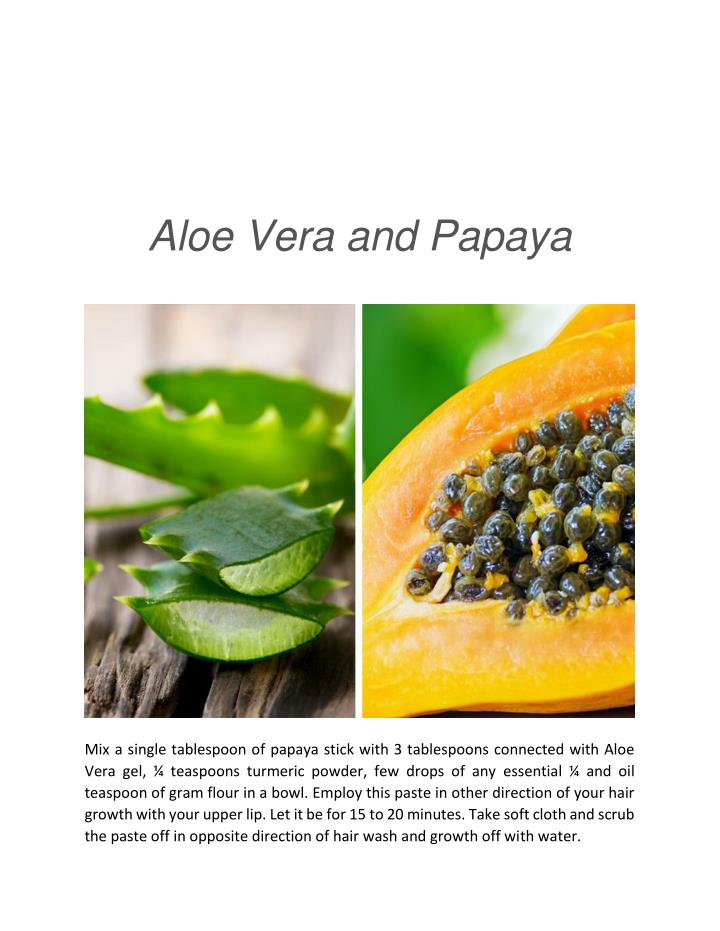 Aloe Vera and Papaya