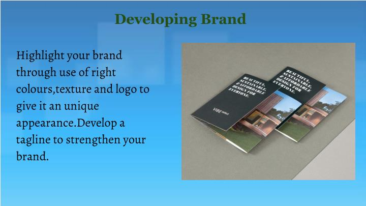 Developing Brand