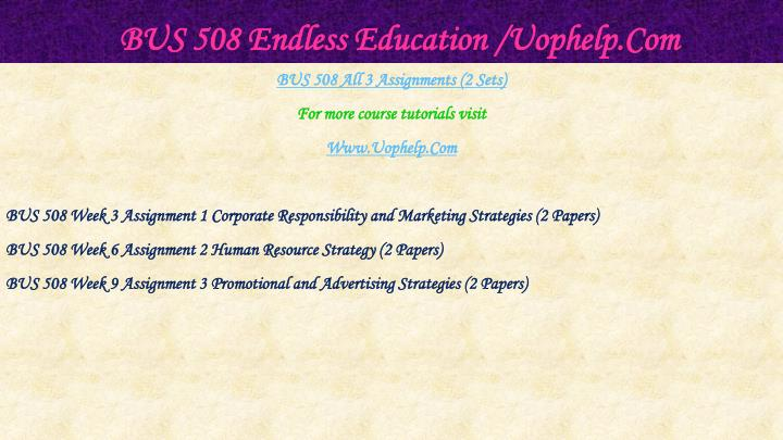 Bus 508 endless education uophelp com1