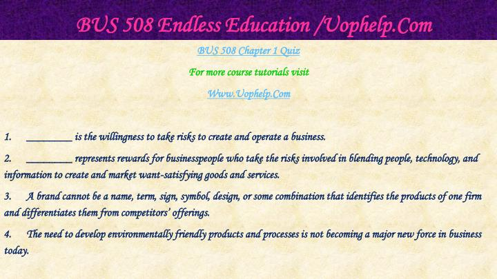 Bus 508 endless education uophelp com2