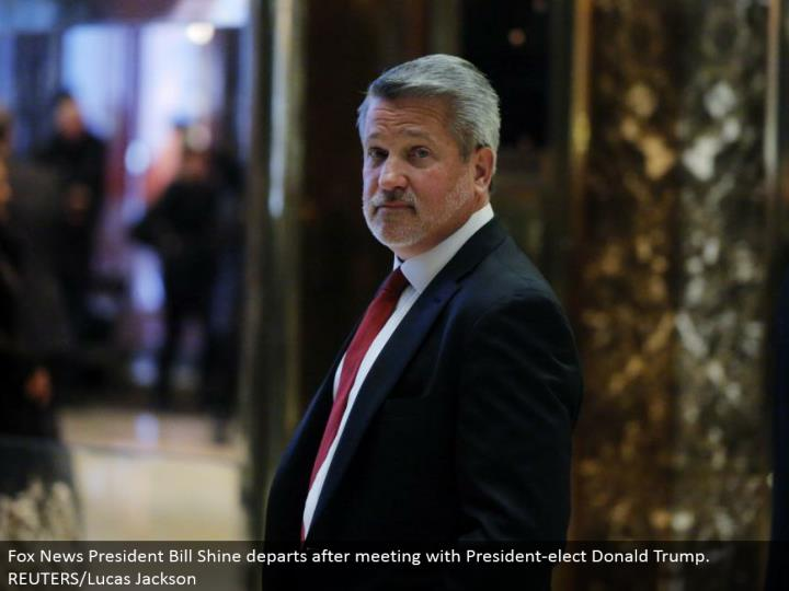 Fox News President Bill Shine withdraws subsequent to meeting with President-elect Donald Trump. REUTERS/Lucas Jackson