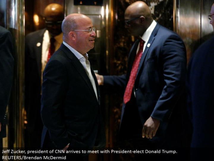 Jeff Zucker, president of CNN lands to meet with President-elect Donald Trump. REUTERS/Brendan McDermid