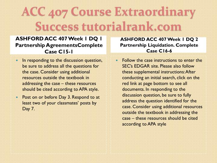 Acc 407 course extraordinary success tutorialrank com2
