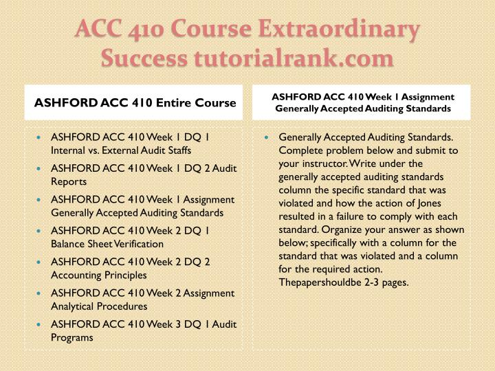 ASHFORD ACC 410 Entire Course