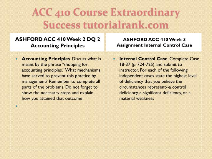 ASHFORD ACC 410 Week 2 DQ 2 Accounting Principles