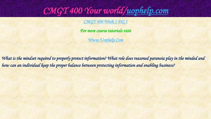 Cmgt 400 your world uophelp com2