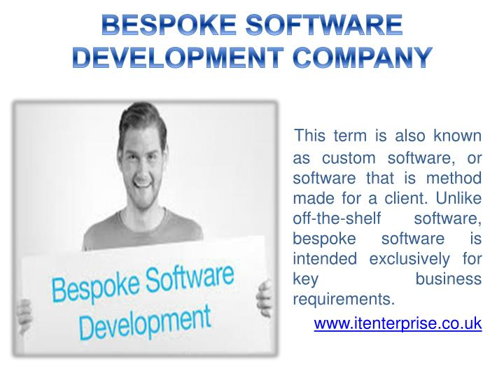 BESPOKE SOFTWARE DEVELOPMENT COMPANY