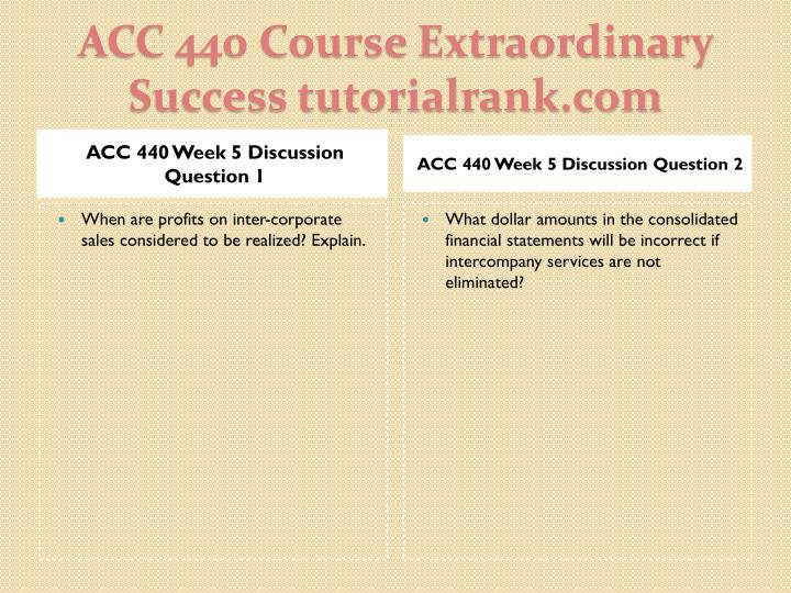 ACC 440 Week 5 Discussion Question 1