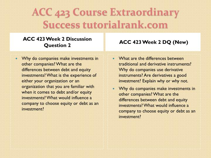 ACC 423 Week 2 Discussion Question 2