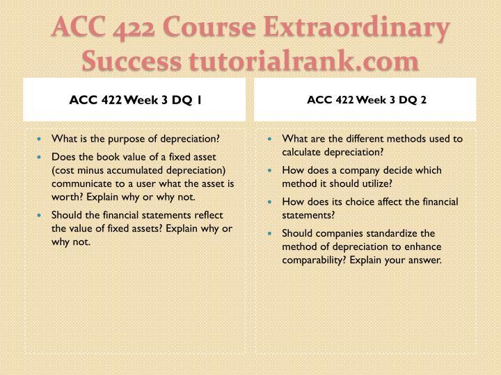 ACC 422 Week 3 DQ 1