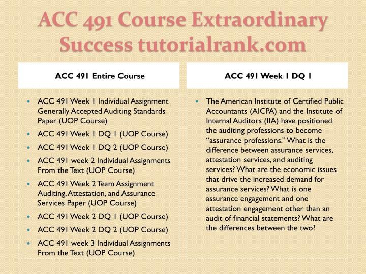 Acc 491 course extraordinary success tutorialrank com1