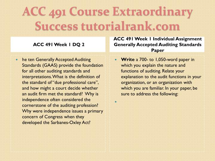 Acc 491 course extraordinary success tutorialrank com2