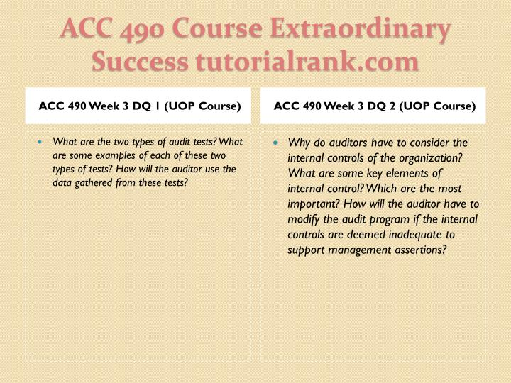 ACC 490 Week 3 DQ 1 (UOP Course)