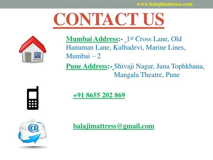www.balajimattress.com