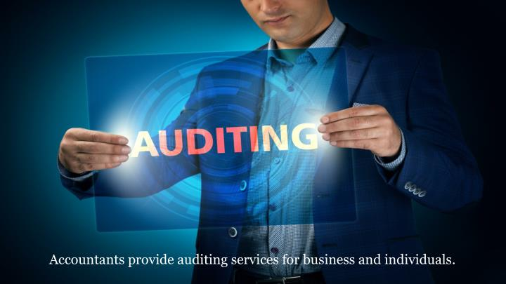 Accountants provide auditing services for business and individuals.