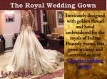 the royal wedding gown