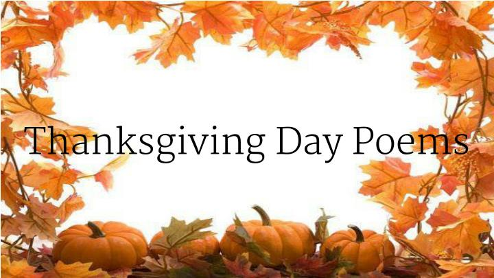 Thanksgiving day poems