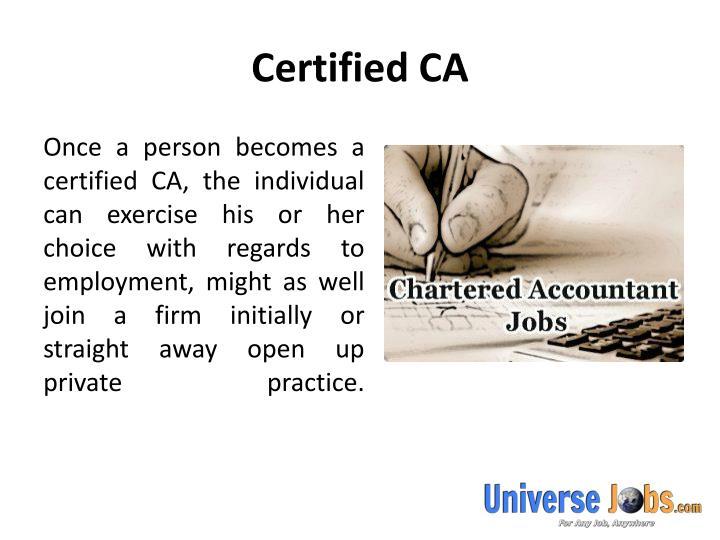 Certified CA