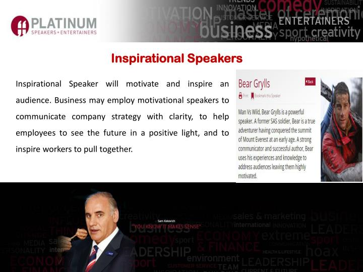Inspirational Speakers