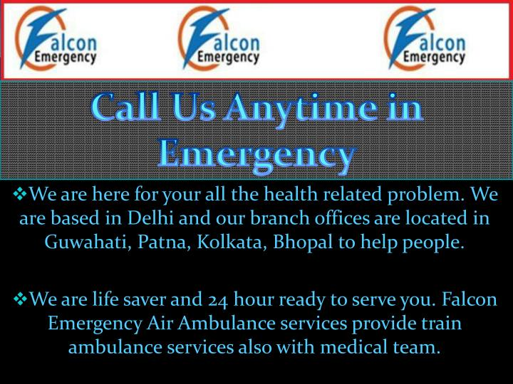 Call Us Anytime in Emergency