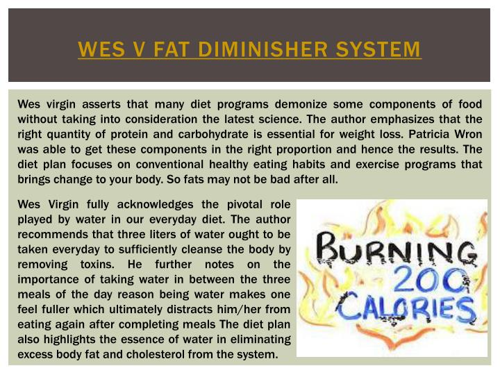 Wes v fat diminisher system