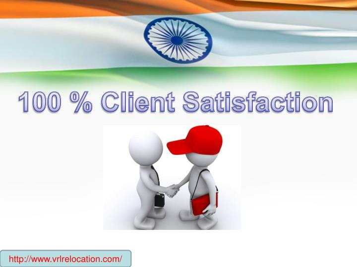 100 % Client Satisfaction
