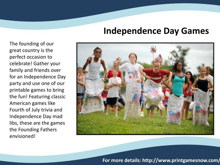 Independence Day Games