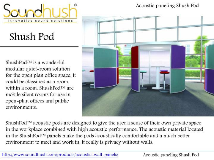 Acoustic paneling Shush
