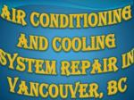 air conditioning and cooling system repair in vancouver bc