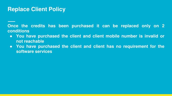 Replace Client Policy