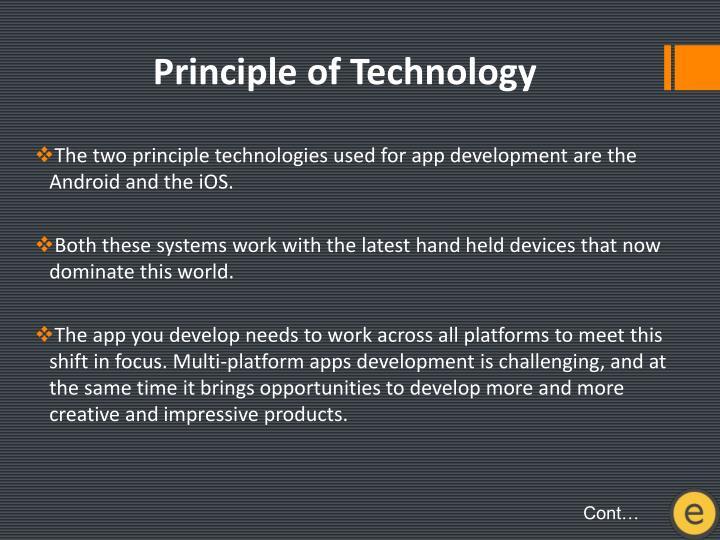 Principle of
