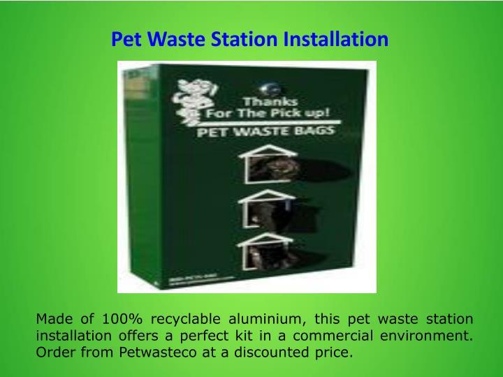 Pet Waste Station Installation