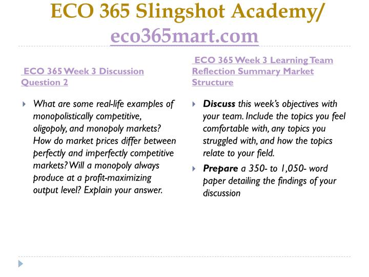 eco 365 current market conditions paper apple Economics is the social science that studies the production, distribution, and  consumption of goods and services economics focuses on the behaviour and  interactions of economic agents  economic theory may also specify conditions  such that supply and demand through the market is an efficient mechanism for.
