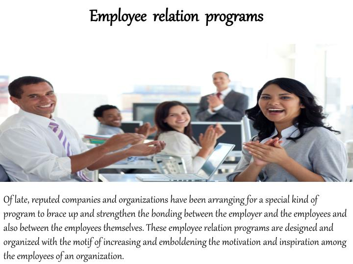 Employee  relation  programs