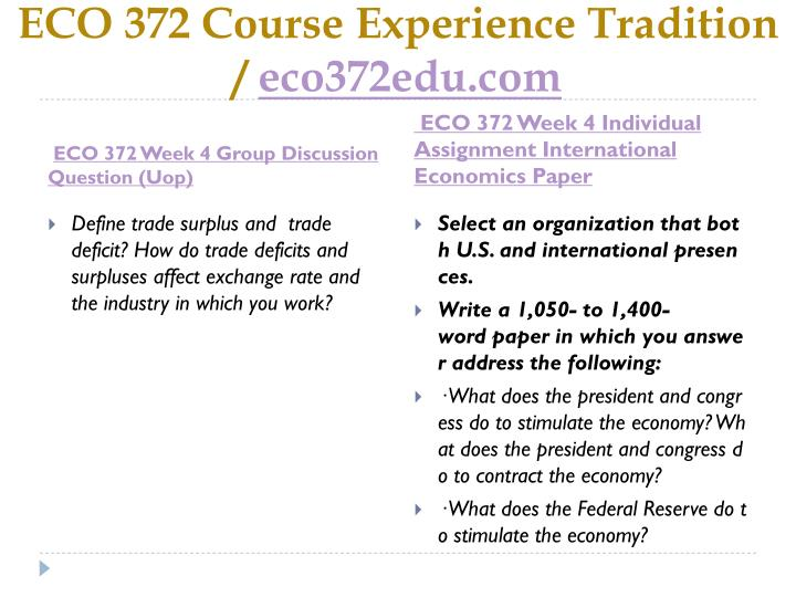eco 372 supply chain and demand model Eco 372 entire course   circular flow model : supply curve : demand curve  recommend changes in your organization's competitive strategies or supply chain.