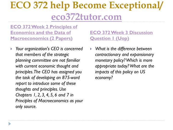 ECO 372 help Become Exceptional