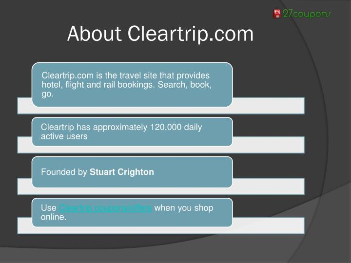 About Cleartrip.com