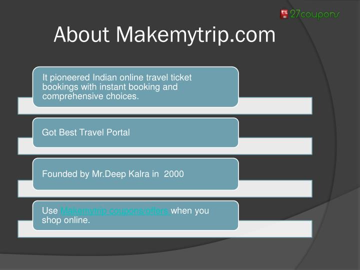 About Makemytrip.com