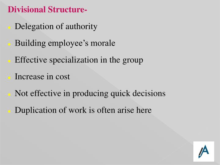Divisional Structure-